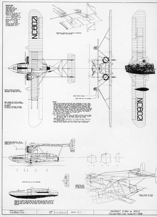 sikorsky S-38A diagram 1928